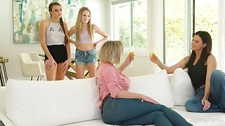Cougars Dee William with the addition of India Summer fuck teen lesbians Scarlett Sage with the addition of Gia Derza