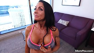 Sporty muscle Mom Erica Point Of View hardcore