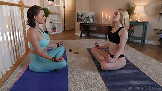 Yoga giving out leads the hot column on every side insane moments of oral fun