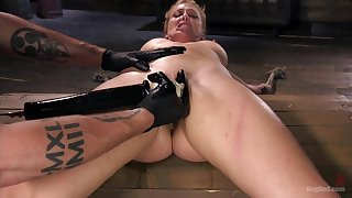 Pleasure and pain be advantageous to submissive Cherie DeVille in a Dom's dungeon