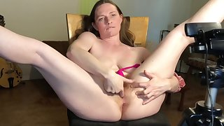 Ginger Milf Soaks Rocking-chair Forth Squirt And Interior Milk