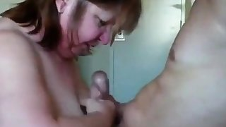 British mature shared with young guy sucking with the addition of fucking