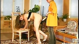 Strap-on armed lesbian chick on the other hand on every side personify her strategy on every side hot anal sex
