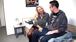 German Mature Teacher Deflowers Fresh Boy at Home