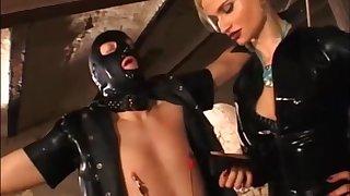 Retro latex slave - BDSM porn video