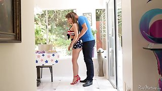 Fantastic MILF with perfect curves Emily Addison gives BJ and enjoys riding locate
