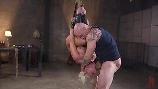 Milf with respect to large tits, insane maledom bondage BDSM