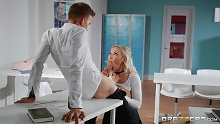 Lucky teacher Danny D fucked Amber Jade right in make an issue of foyer