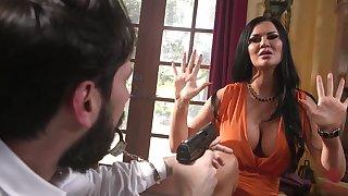 Robber in mask fucks tied up brunette babe with huge boobs Jasmine Jae