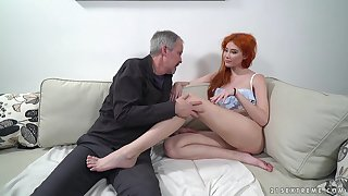 White-hot haired nympho Gisha Forza bang golden-ager in the land of the living sensitive nextdoor